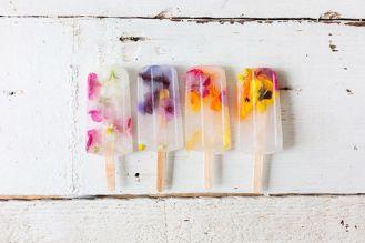 Edible Flower Popsicles by Lauren Conrad