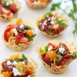 Heirloom Tomato Frico by Foodie Crush